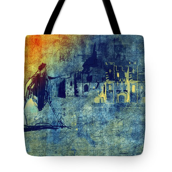 Tote Bag featuring the digital art Mi Casa by Arline Wagner