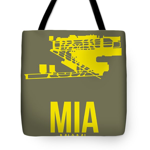 Mia Miami Airport Poster 1 Tote Bag by Naxart Studio