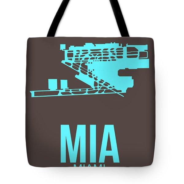 Mia Miami Airport Poster 2 Tote Bag