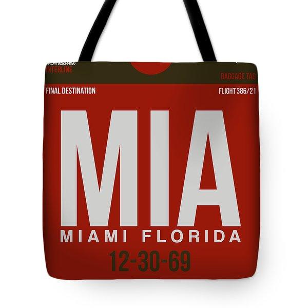 Mia Miami Airport Poster 4 Tote Bag