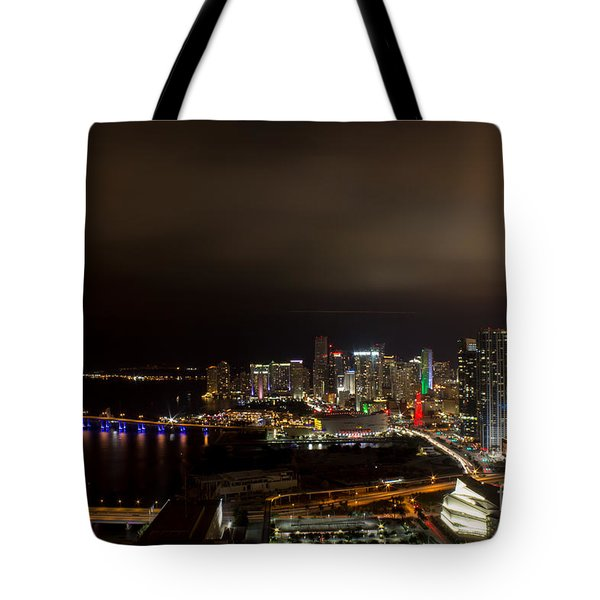 Miami After Dark Tote Bag by Rene Triay Photography