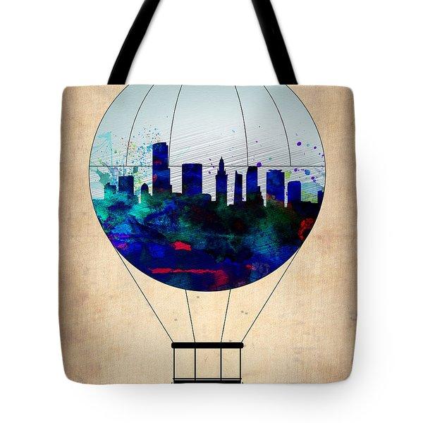 Miami Air Balloon Tote Bag by Naxart Studio