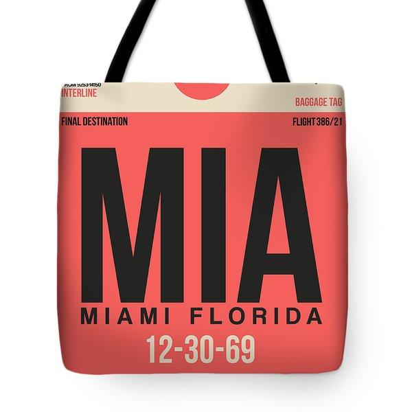 Miami Airport Poster 3 Tote Bag by Naxart Studio