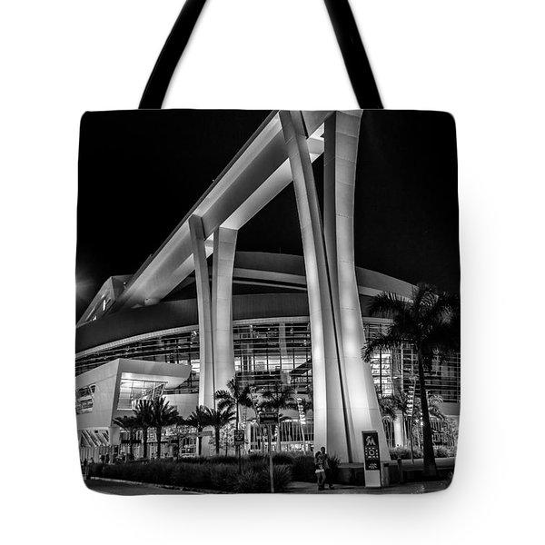 Miami Marlins Park Stadium Tote Bag