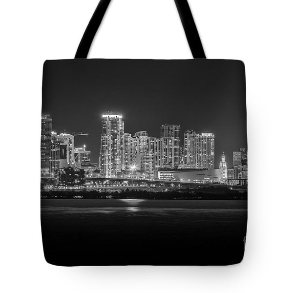 Miami On A Clear Summer Night Tote Bag