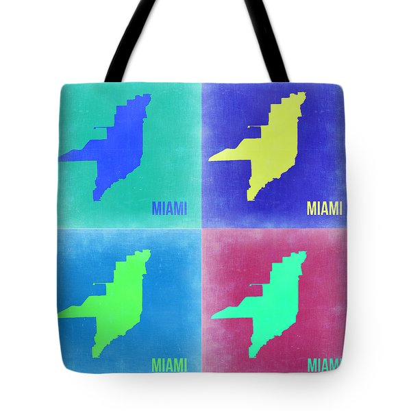 Miami Pop Art Map 2 Tote Bag