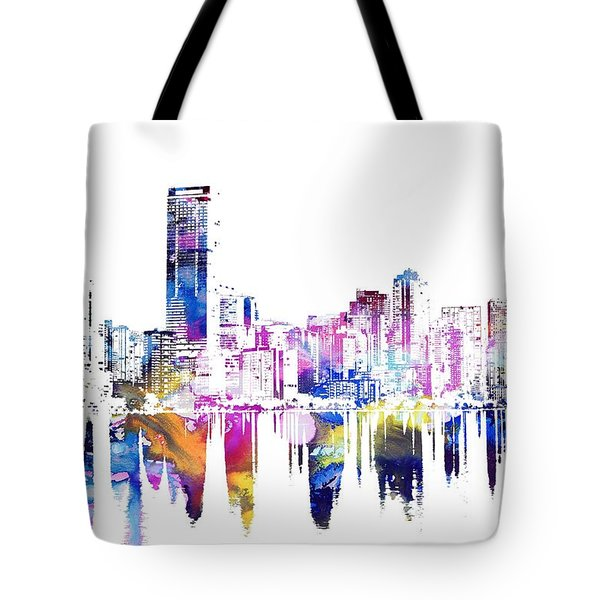 Miami Skyline Tote Bag