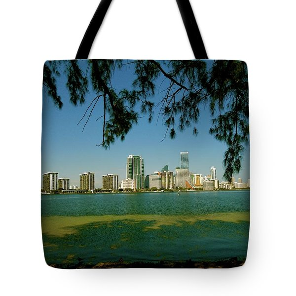 Miami Skyline Tote Bag