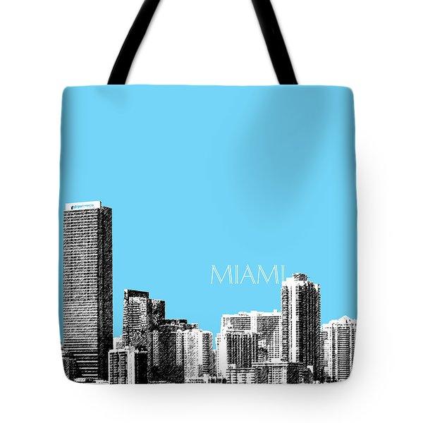 Miami Skyline - Sky Blue Tote Bag