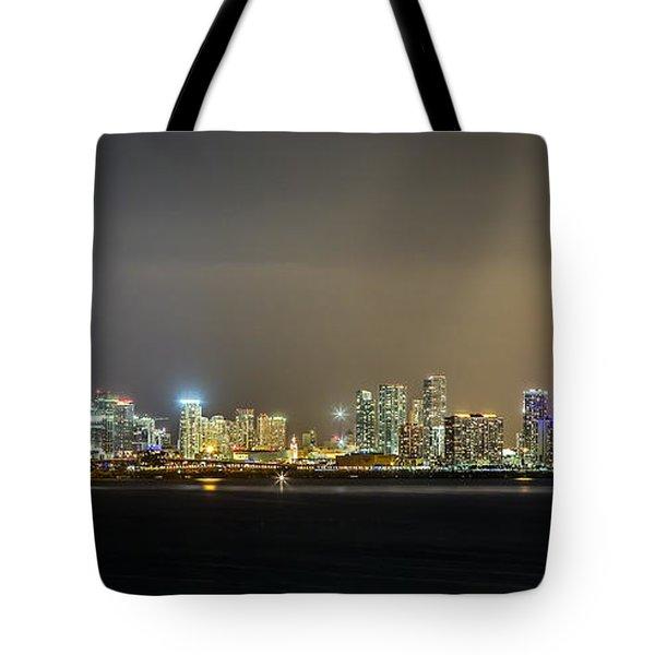 Miami Skyline View II Tote Bag