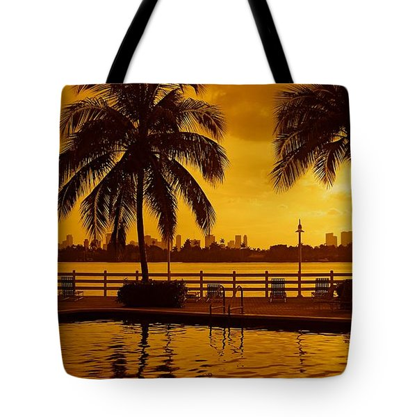 Miami South Beach Romance Tote Bag