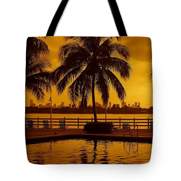 Miami South Beach Romance Tote Bag