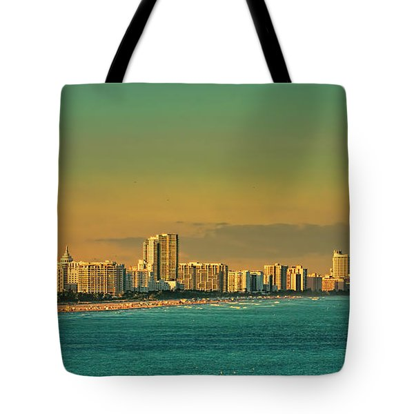 Miami Sunset Tote Bag