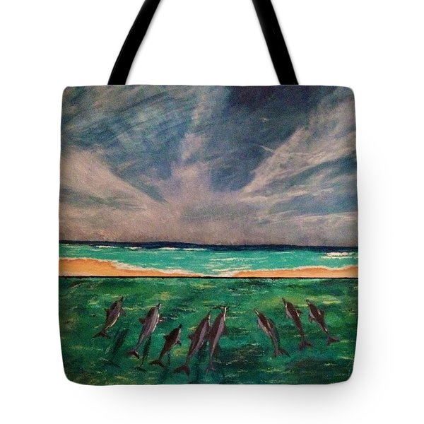 Tote Bag featuring the painting Delfin by Vanessa Palomino