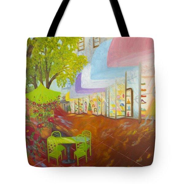 Miami's Coconut Grove Shops Tote Bag by Douglas Ann Slusher