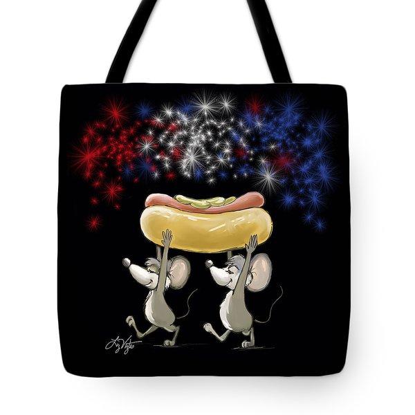 Mic And Mac's 4th Of July Night Picnic Tote Bag