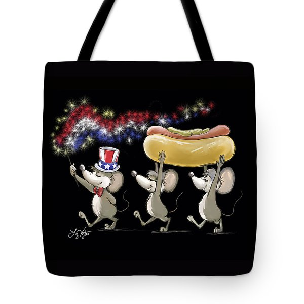 Mic Mac And Moe's 4th Of July Night Picnic Tote Bag