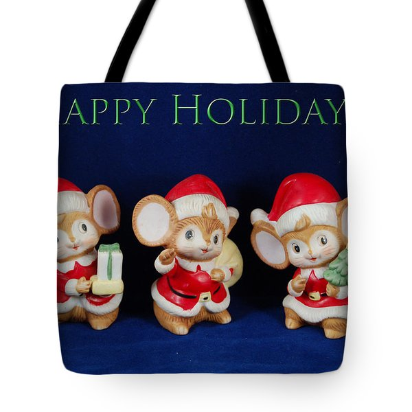 Mice Holiday Tote Bag
