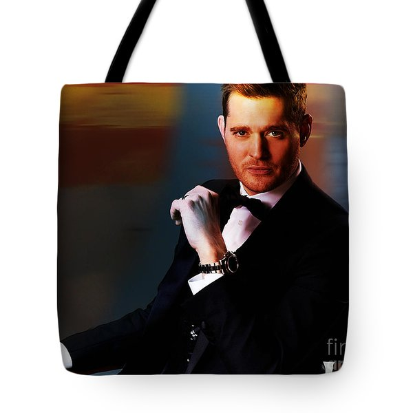 Michael Buble Tote Bag by Marvin Blaine