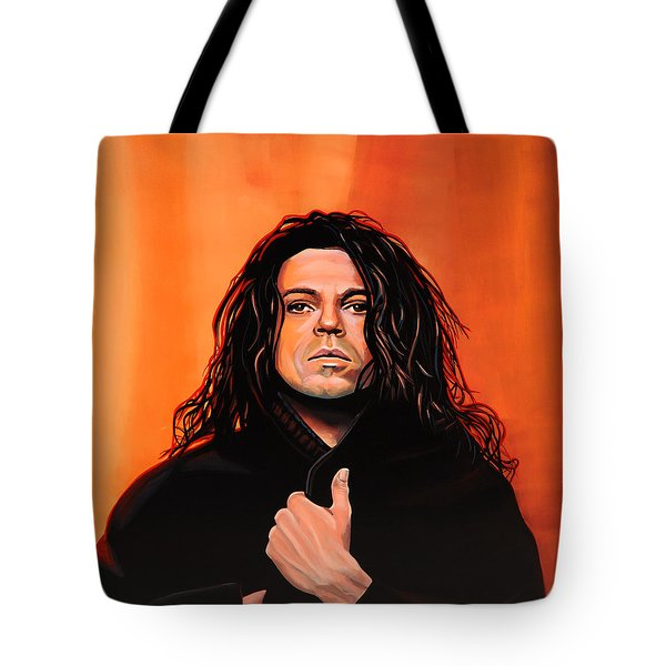 Michael Hutchence Painting Tote Bag