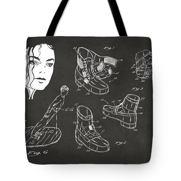 Michael Jackson Anti-gravity Shoe Patent Artwork Vintage Tote Bag by Nikki Marie Smith