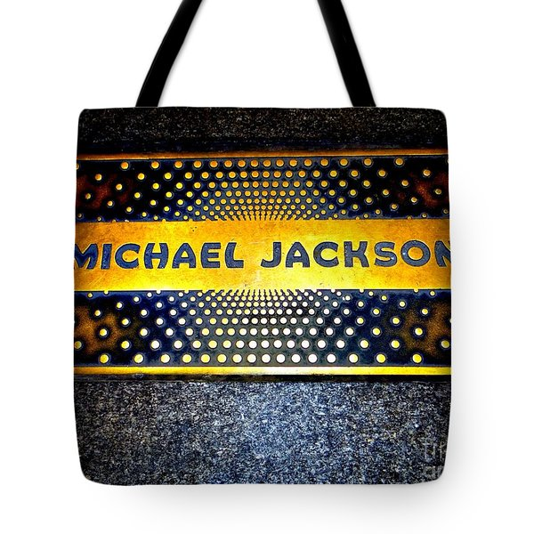 Michael Jackson Apollo Walk Of Fame Tote Bag by Ed Weidman