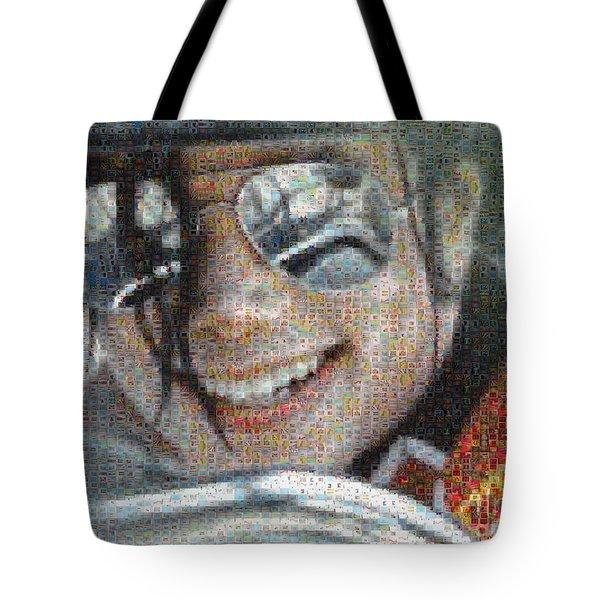 Michael Jackson - Mosaic Tote Bag by Paulette B Wright