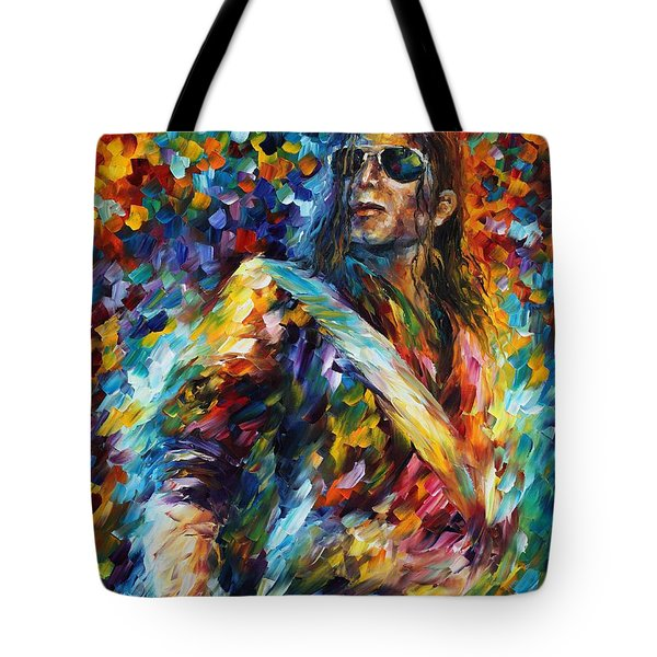 Michael Jackson - Palette Knife Oil Painting On Canvas By Leonid Afremov Tote Bag by Leonid Afremov