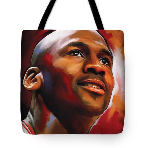 Michael Jordan Artwork 2 Tote Bag by Sheraz A