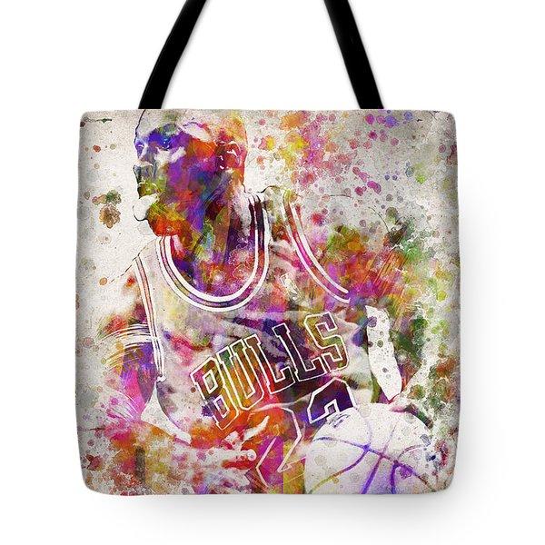 Michael Jordan In Color Tote Bag by Aged Pixel