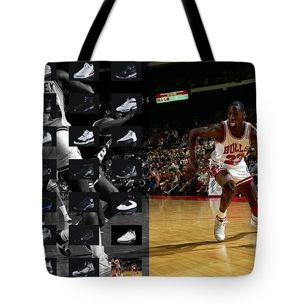 Michael Jordan Shoes Tote Bag