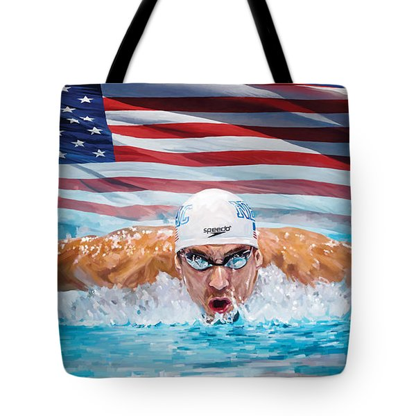 Michael Phelps Artwork Tote Bag