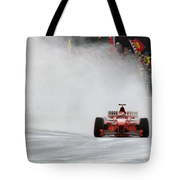 Michael Schumacher Rainmaster Tote Bag by Gary Doak
