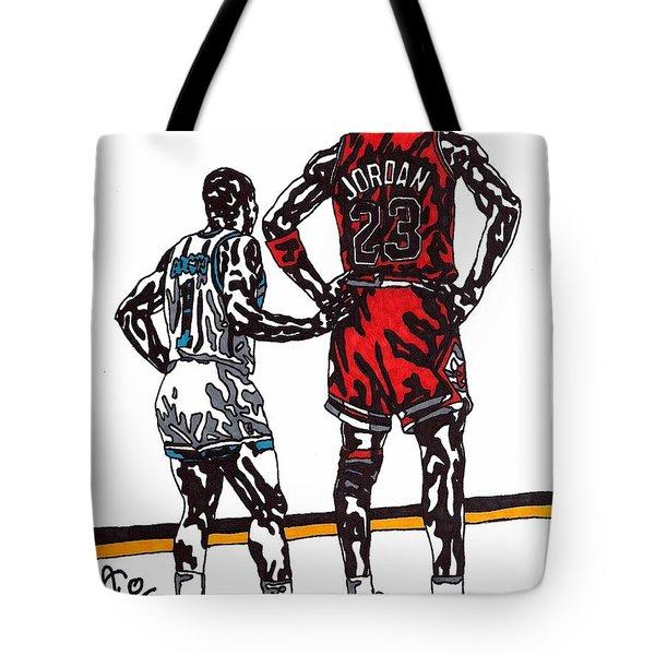 Micheal Jordan 1 Tote Bag by Jeremiah Colley