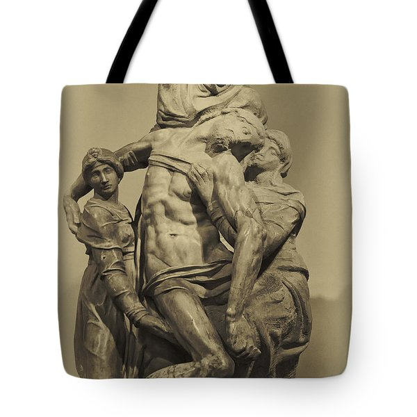 Michelangelo's Florence Pieta Tote Bag by Melany Sarafis