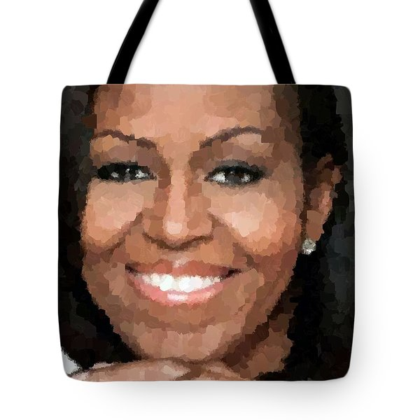 Michelle Obama Tote Bag by Samuel Majcen