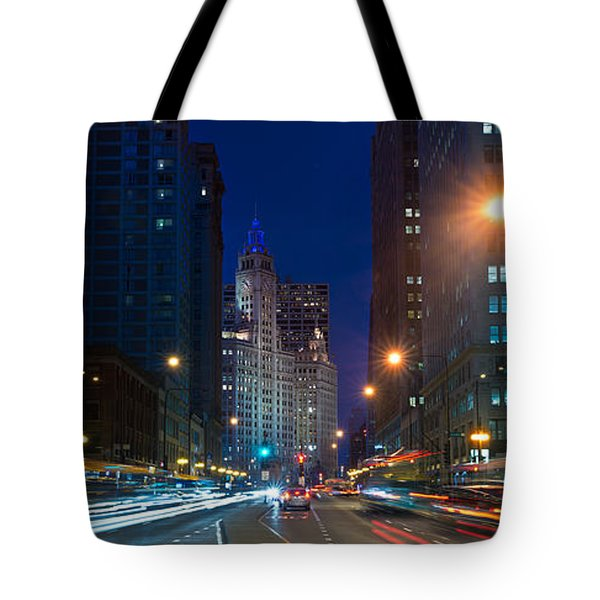 Michigan Avenue Chicago Tote Bag by Steve Gadomski