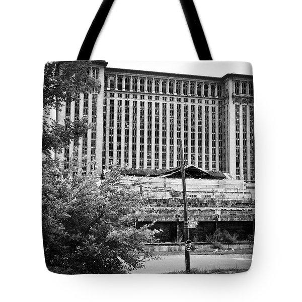 Michigan Central Station Tote Bag by Priya Ghose