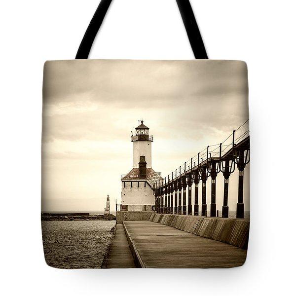 Michigan City Lighthouse Tote Bag