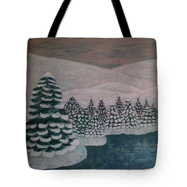 Michigan Winter Tote Bag by Jasna Gopic