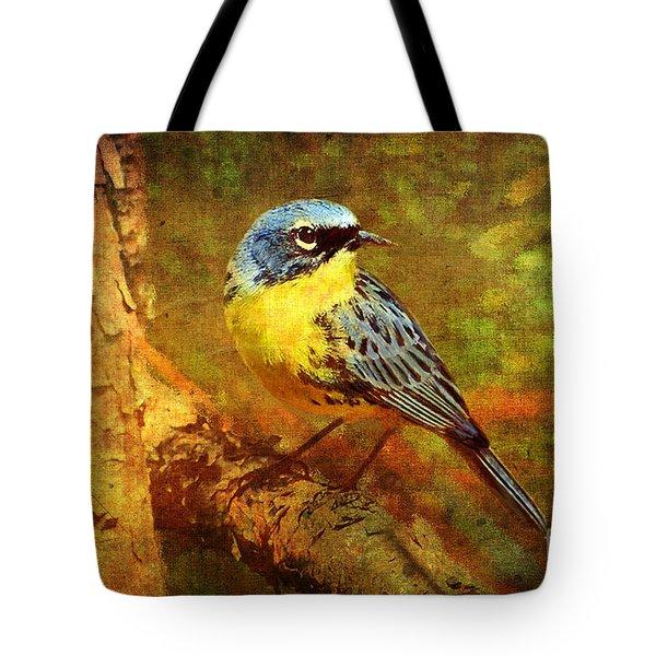 Michigans Rare Kirtlands Warbler Tote Bag