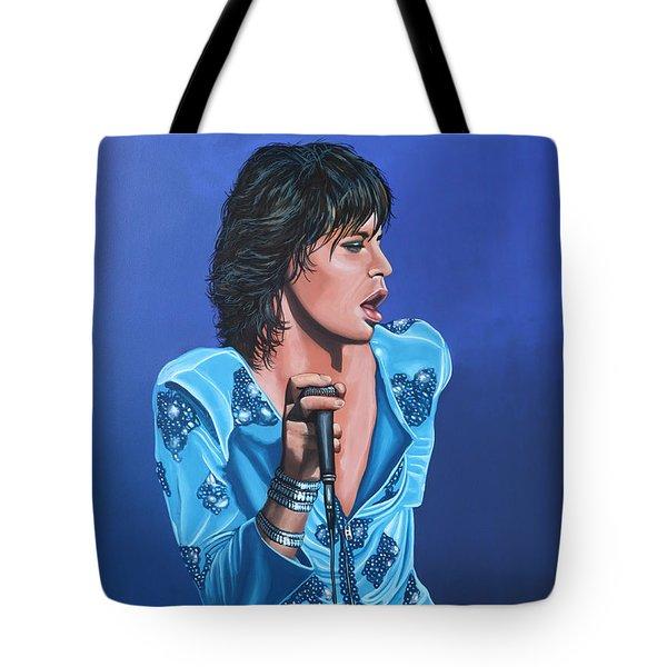 Mick Jagger Tote Bag by Paul Meijering