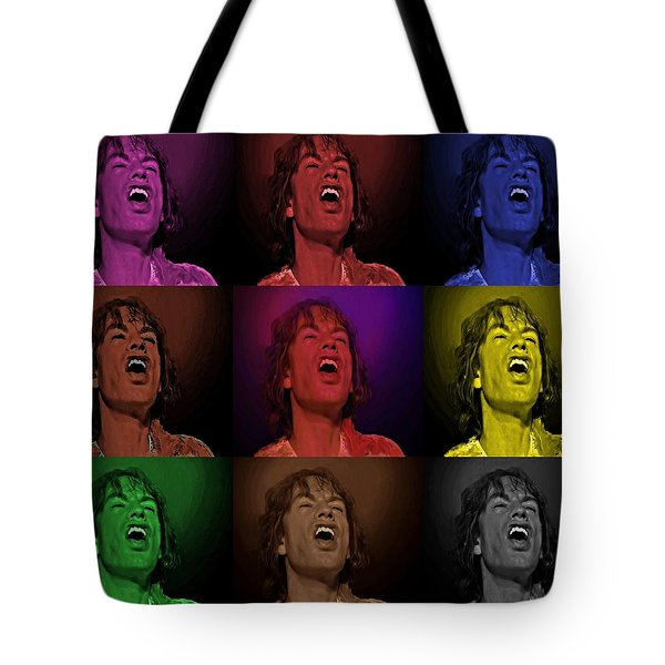 Mick Jagger Pop Art Print Tote Bag