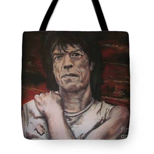 Mick Jagger - Street Fighting Man Tote Bag