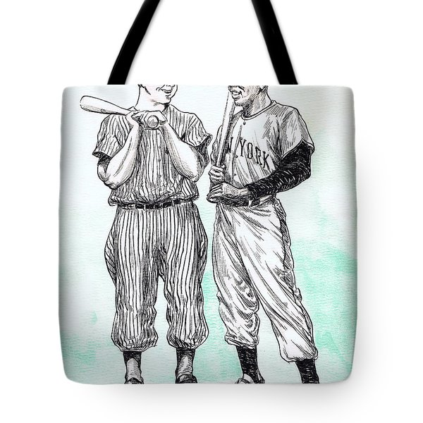Mickey And Willie Tote Bag by Mel Thompson