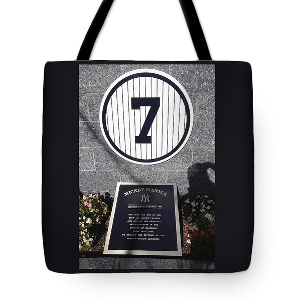 Mickey Mantle Tote Bag by Allen Beatty