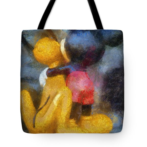 Mickey Mouse Photo Art Tote Bag