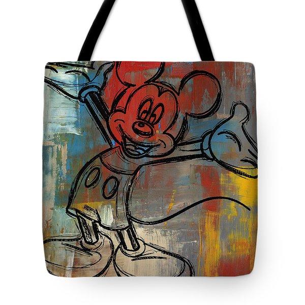Mickey Mouse Sketchy Hello Tote Bag