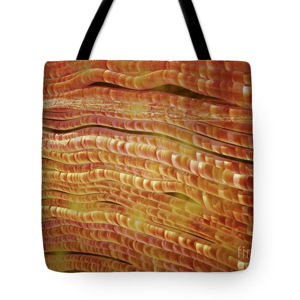 Microscopic View Of Nerve Fibers Tote Bag