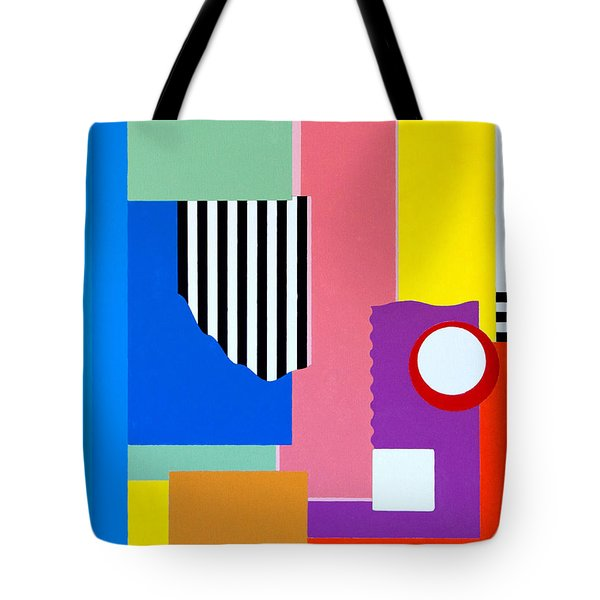 Tote Bag featuring the painting Mid Century Compromise by Thomas Gronowski